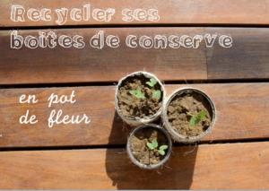 Recycler ses boites de concerve en pot de fleur